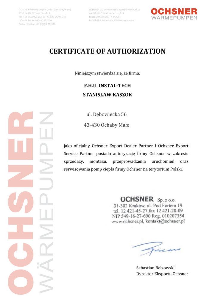 Instaltech certyfikat (1)